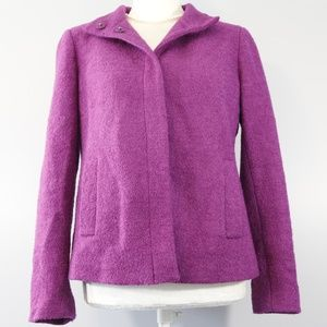Talbots Purple Pea Coat - 4